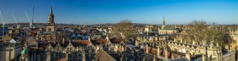 Cityscape of Oxford, a city in South East England, county town of Oxfordshire.