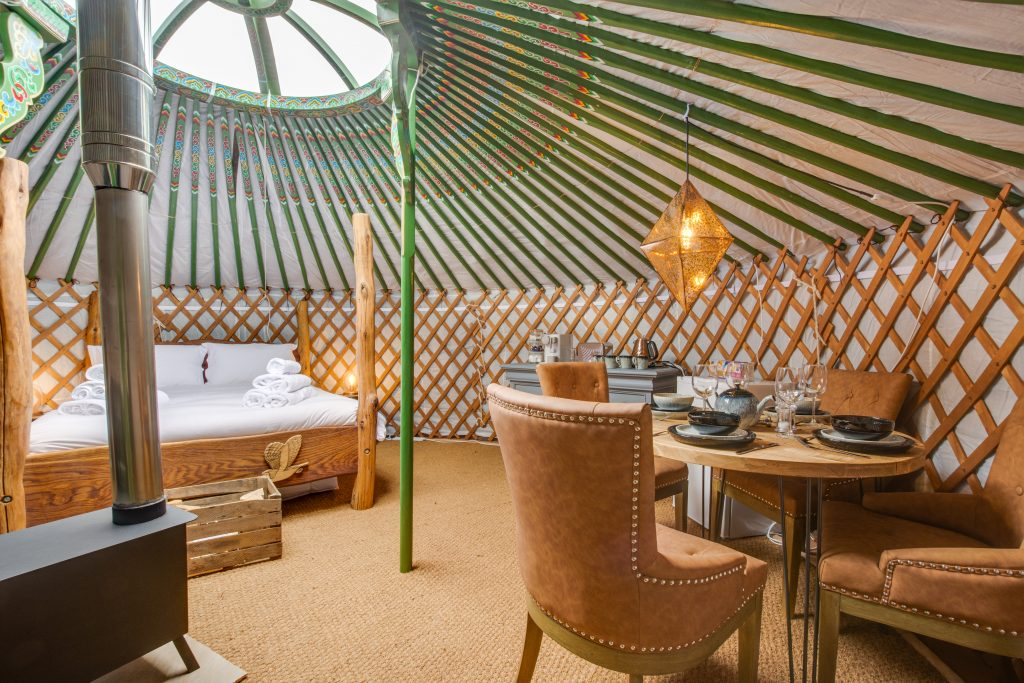 Yurt rentals are popular for off-grid holidays