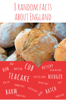 Random facts about England including lots of bread rolls