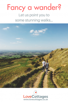 Walking holidays are one of the most awesome ways to see and explore England and Wales. And May is National Walking Month and Mental Health Awareness Week so what better occasion to get out and wander. Self-catering holidays in the UK provide the perfect base from which to walk and wander back to of an evening to watch the sunset. UK walking holidays can include long distance treks, family walking trails, guided walks, hill climbs or perhaps our favourite: pub walks. See Britain a different way with a walking holiday.