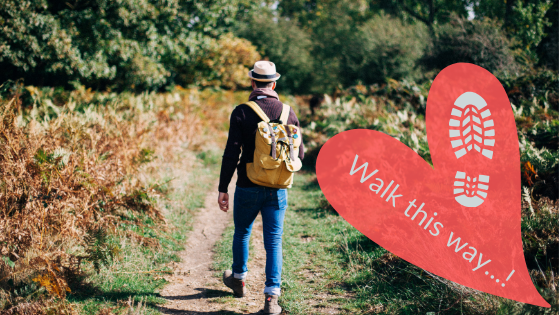Man walking for great British Walking Festivals article written by Love Cottages. Pedometers at the ready! Won't you come with us as we wander, wend and weave our way along these great British walking festivals?