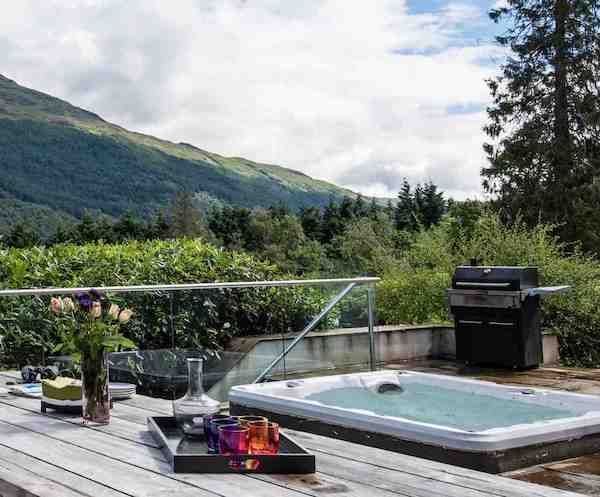 Hot tub view of the Highlands one of the places captured by Val McDermott's book in our summer reads list